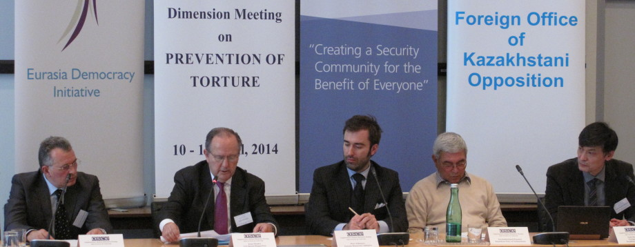 Eurasia Democracy Initiative Kazakhstan Torture OSCE