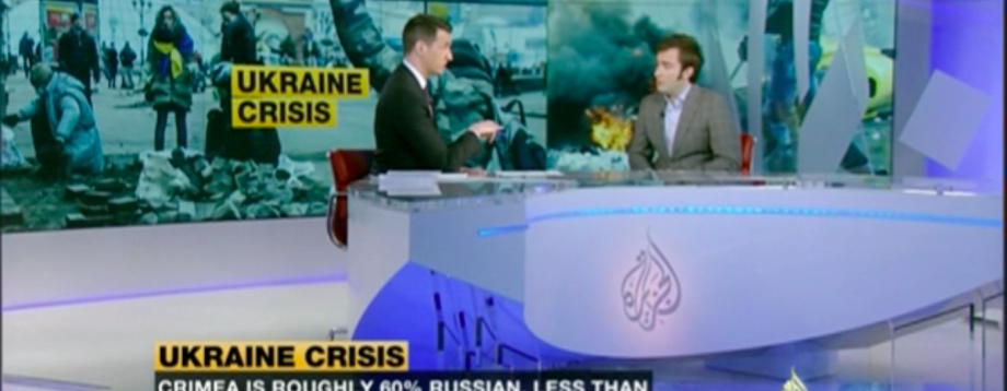 Al Jazeera Zalmayev Ukraine Crisis