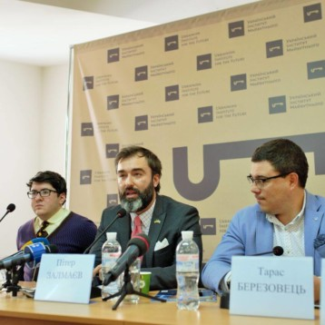 "On February 15, 2017, Instutute for the Future of Ukraine and Eurasia Democracy Initiative held a joint briefing ""Trump and His Team: What Should Ukraine Expect?"""